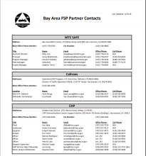 partner contacts